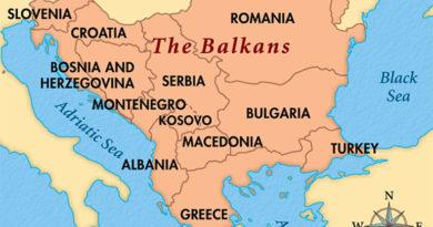 Balkansko poluostrvo - mapa