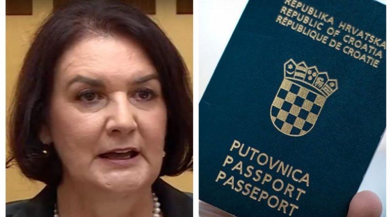 Iako je glavna državna tužiteljka Bosne i Hercegovine Gordana Tadić na službenim putovanjima koristi pasoš Hrvatske