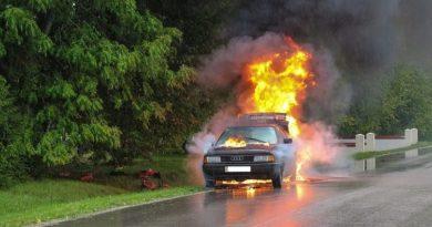 saobraćajna nesreća, požar