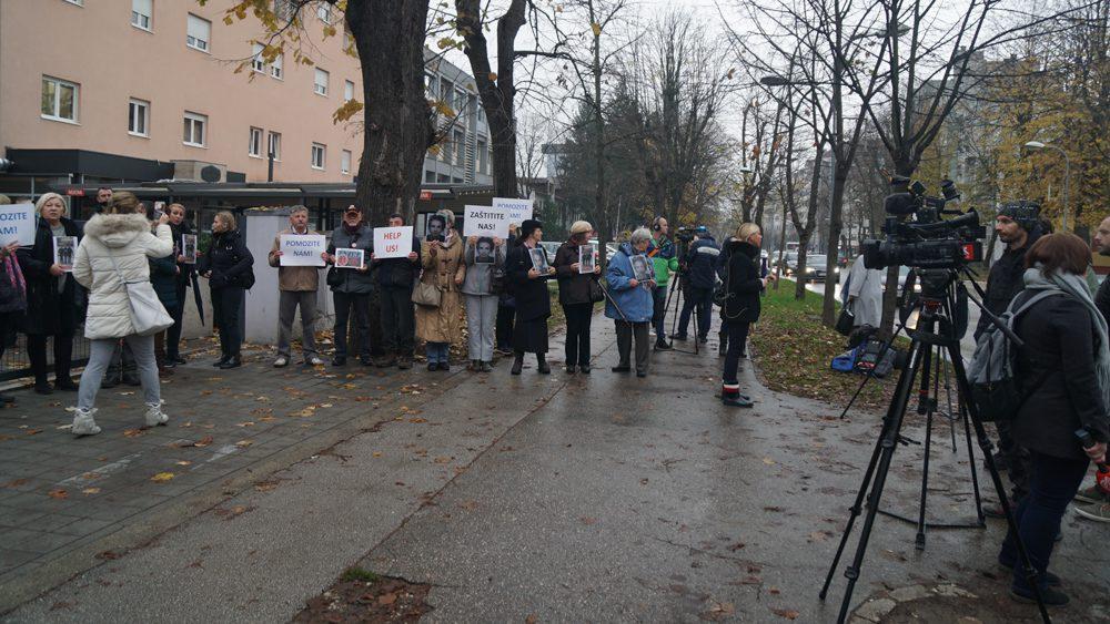 """Pravda za Davida"" ispred Osnovnog suda/FOTO: GERILA"