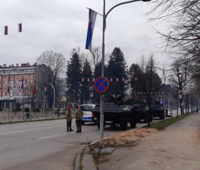Banjaluka- pripreme za Dan Republike, policija na ulicama