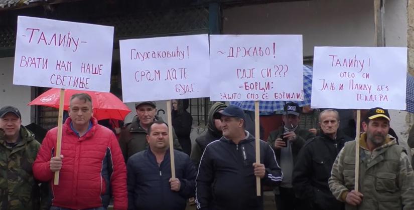 Protesti ribara u Šipovu, 7. mart 2020. / FOTO: RTV BN