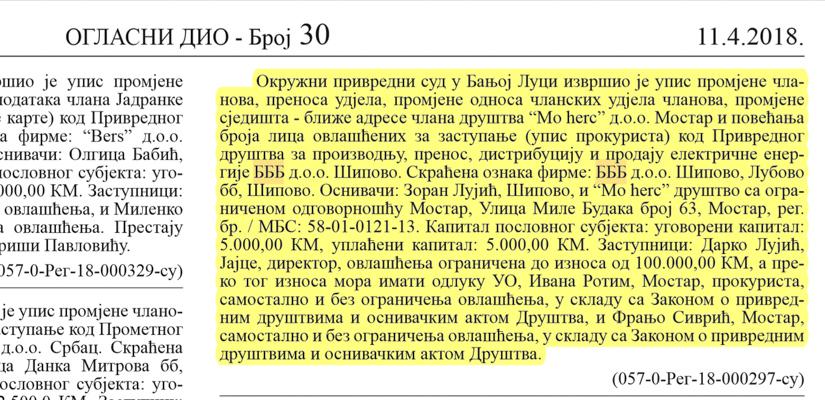Službeni glasnik Republike Srpske – Broj 30