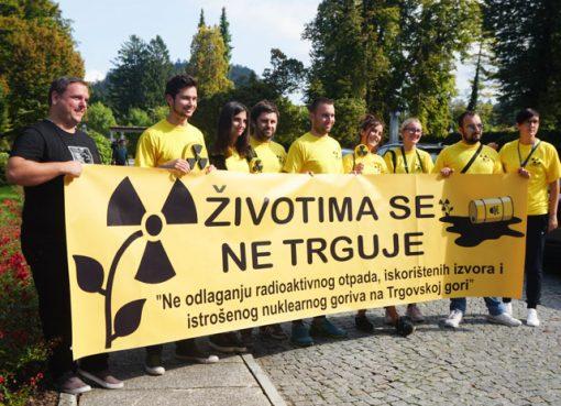 Protest protiv izgradnje odlagališta na Trgovskoj gori