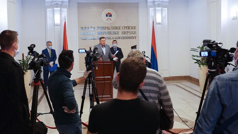 Press Dodik, Lukač i Radončić / FOTO: GERILA