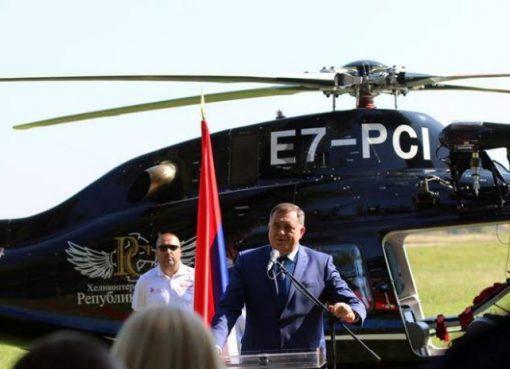 Milorad Dodik- helikopterski servs