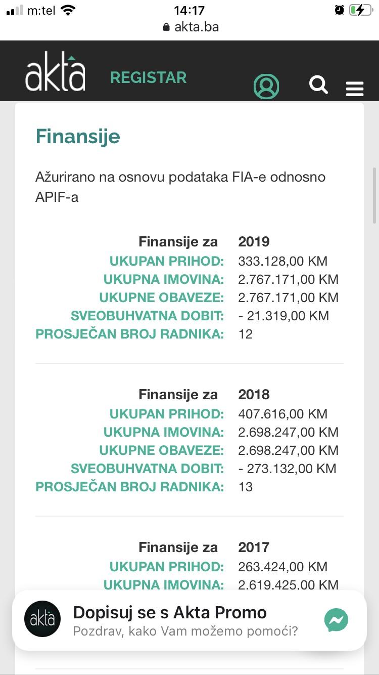 Komunalac Glamoč- poslovanje 2019 i 2018