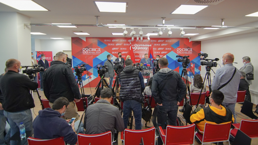 Press konferencija SNSD-a / FOTO: GERILA