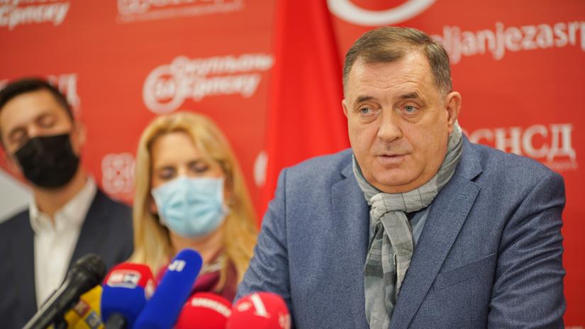 Milorad Dodik, Mladen Ilić, Željka Cvijanović / FOTO: GERILA
