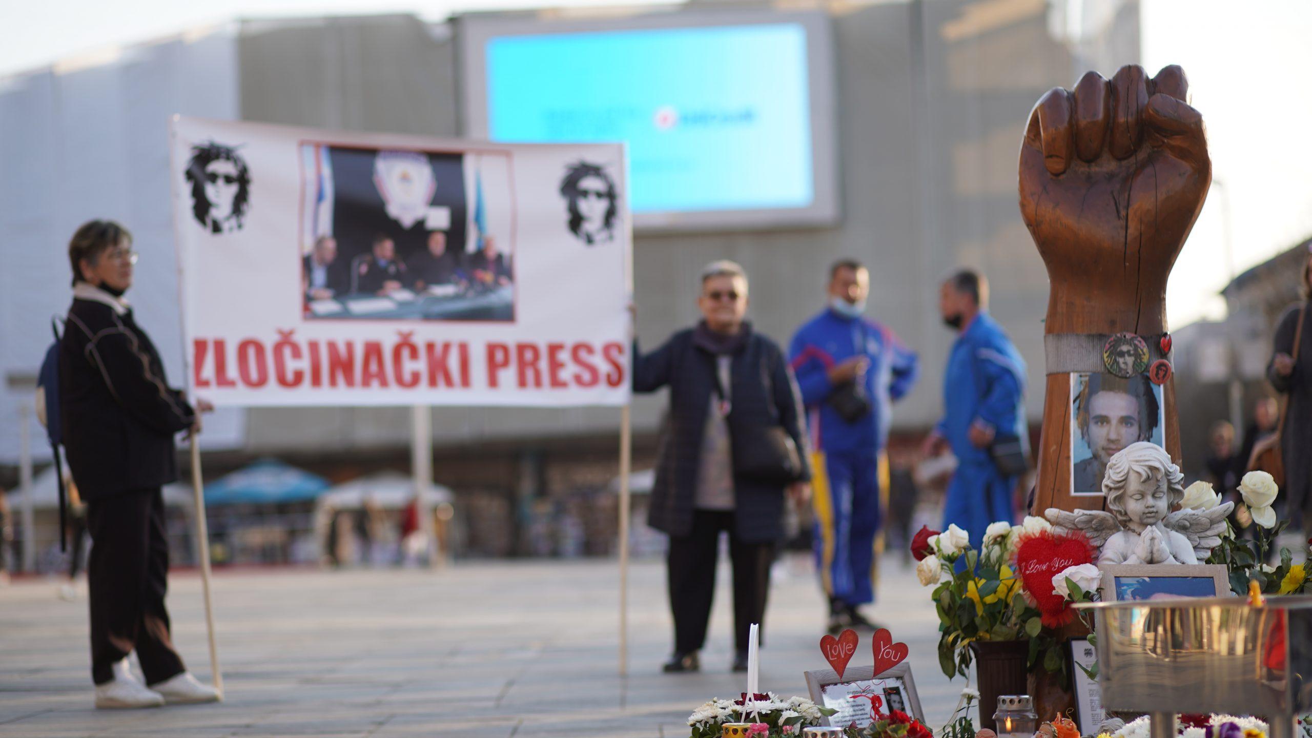 Pravda za Davida na Trgu Krajine / FOTO: GERILA